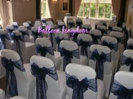 navy blue chair sashes chair cover and table linen hire in uxbridge slough