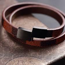 luxury leather bracelet images Buy moge new arrival trendy men 10 3mm luxury jpg