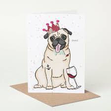 boxed cards pug cards 5x7 what happens hum
