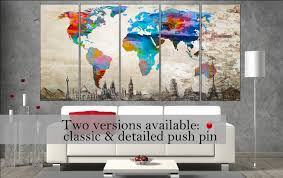 Large World Map Canvas by World Map Canvas Prints Canvas Art Print World Map Canvas Wall Art