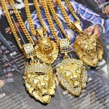gold animal pendant necklace images 4 design mens gold lion king crown head leo 3d animal pendant jpg