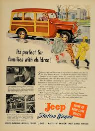 vintage jeep ad 1949 ad willys jeep station wagon woodie children dog original