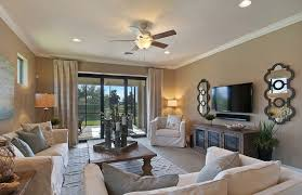 living room with hardwood floors crown molding in fort myers fl