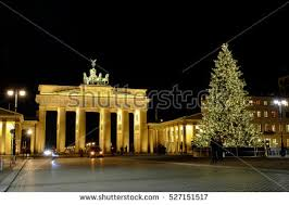 Decorative Christmas Tree Gate by Berlin Brandenburg Gate Christmas Tree Snow Stock Photo 66627196