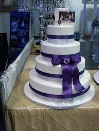 classic cadbury purple wedding cake by ellie ellie u0027s elegant