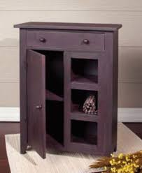 Small Floor Cabinet With Doors Primitive Small Cabinet Door Drawer Open Shelves Rust Brown Black