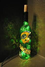 green bay packers lights green bay packers lighted wine bottle by winenotbottles on etsy