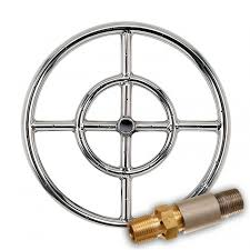 Propane Burners For Fire Pits - shop american fireglass round stainless steel fire pit burner