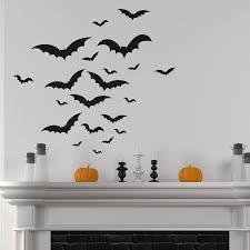 halloween bats wall sticker set by nutmeg notonthehighstreet com halloween bats wall sticker set