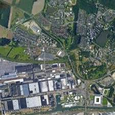 best aerial maps volkswagen factory in wolfsburg germany on the satellite picture