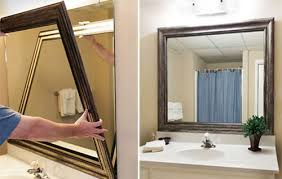 Frames For Mirrors In Bathrooms by Beautiful Decoration Frames For Bathroom Mirrors Custom Diy