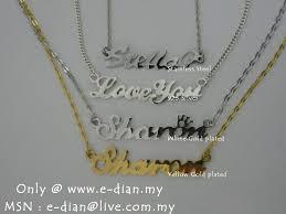 Personalized Name Bracelet Malaysia Buyer U203b Personalized Name Necklace Name Bracelet