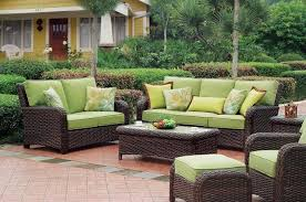 Outdoor Patio Chairs Clearance Outdoor Great Rattan Wicker Outdoor Patio Furniture With Green