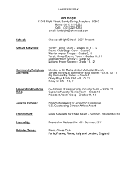 resume example student exol gbabogados co