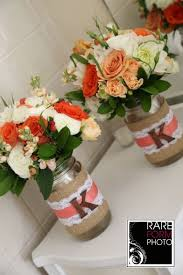 Wedding Centerpieces Using Mason Jars by Rustic Wedding Mason Jar Centerpieces Hydrangea Dahlias Roses