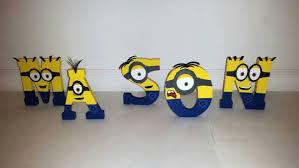 wooden minion letters minion name personalized minion