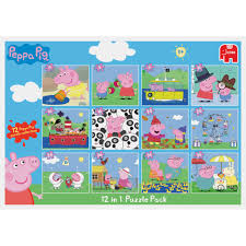 Peppa Pig Sofa by Peppa Pig 12 In 1 Puzzle Set Peppa Pig Toys Toys R Us