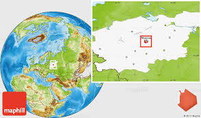 moscow map world physical location map of moscow highlighted grandparent region