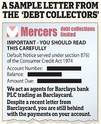 banks did intimidate customers with fake debt collection letters