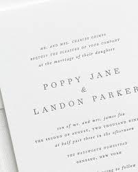 plain wedding invitations poppy letterpress wedding invitations letterpress wedding