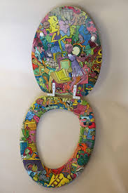 Cushioned Toilet Seats Hand Painted Toilet Seat By Madeline Manning Madmanware Made For