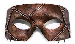 mens masks painted chain mail mens masquerade mask