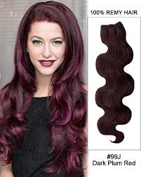 20 inch hair extensions 99j plum wave weave remy human hair extension