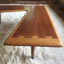 lane acclaim end table mid century modern lane acclaim walnut boomerang coffee table epoch