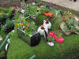inspirational ideas how to recycle old trash into beautiful garden