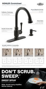 Delta Lakeview Faucet Bronze by Kohler Carmichael Single Handle Pull Down Sprayer Kitchen Faucet
