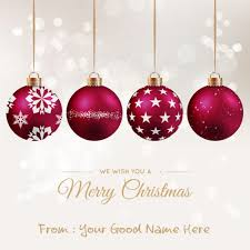 ornament with snowy background name pictures