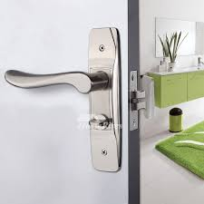 Interior Door Lock Key Door Locks Without Key Zinc Alloy Brushed Silver Handle