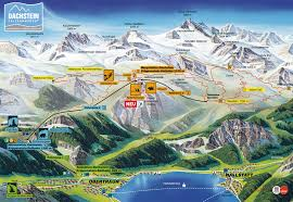 Cable Car Map Dachstein Salzkammergut Panorama