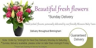 sunday flower delivery sunday flower delivery birmingham order by midnight friday