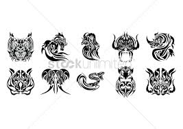 collection of animal tattoo design vector image 1433398