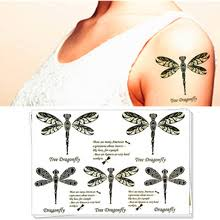 buy dragonfly tattoo art and get free shipping on aliexpress com