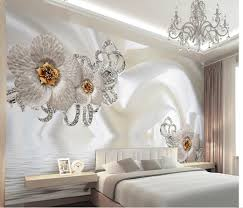 Korean Wallpaper Home Decor Customize 3d Photo 3d Silk Flowr Minimalist Modern European Large