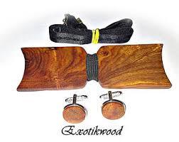 cufflinks made of wood