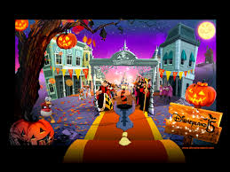 halloween computer background free disney desktop wallpaper wallpapersafari