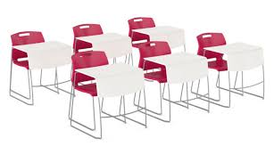 lecture tables and chairs new from global introducing duet tables officeinsight