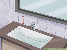 where to buy bathroom mirrors how to buy a bathroom mirror with pictures wikihow