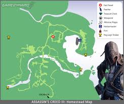 Boston Crime Map by Assassin U0027s Creed Iii Maps Feathers Viewpoints Fast Travel
