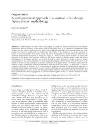 a configurational approach to analytical urban design u0027space