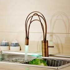 brass kitchen faucets wholesale and retail led light brass kitchen sink faucet single