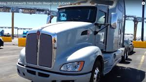 build your own kenworth truck trucking 2015 kenworth t660 studio sleeper tour jcanell youtube