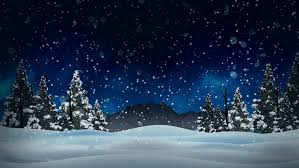 digital animation of santa and his sleigh flying snowy