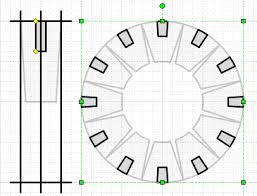 design mode visio radial elements tool