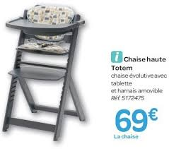 chaise haute safety carrefour promotion chaise haute totem safety 1st chaise haute