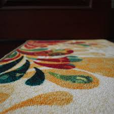 yazi country style floral anti slip door mat kitchen rug mat anti