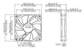 amazon com adda 120mm 25mm new case fan 12v dc 175cfm pc cooling